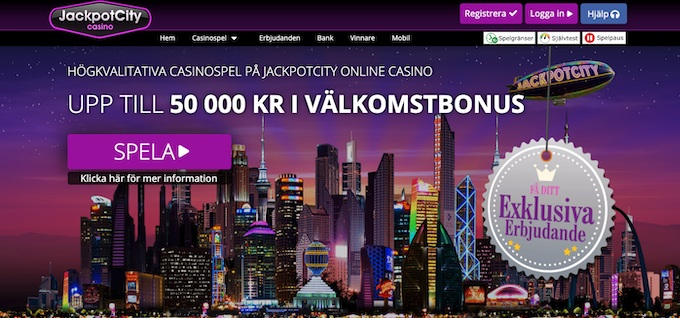 Jackpot City casinobonus