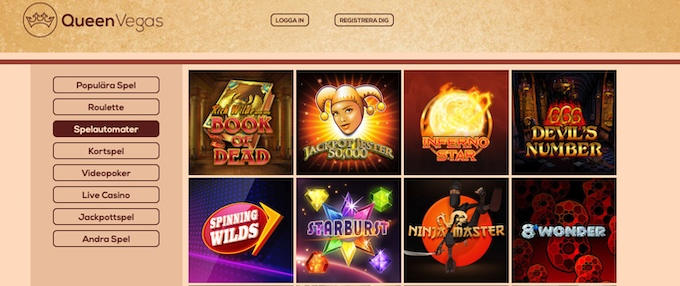 QueenVegas Casino spel