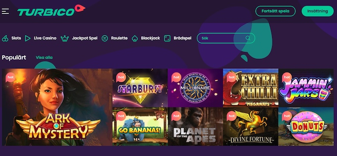 Turbico Casino spel