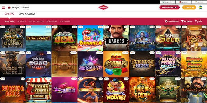 Vinnarum casino spel