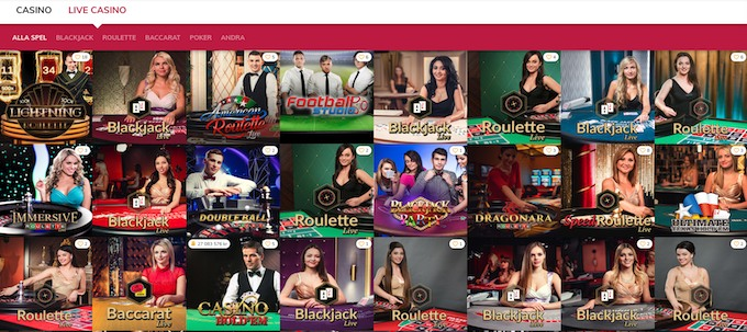 Vinnarum Live casino