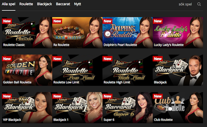 Energy Casinos Live Casino